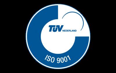 2015:   ISO certificaat behaald bij de TUV in november.